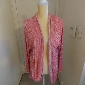 Plus Size Pink Cardigan